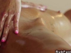 Masseur and masseuse bangs brunette