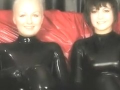 Horny homemade MILFs, Latex xxx scene