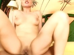 Buxom Elizabeth Maciel feeds her hungry anal hole a hard stick in POV