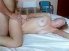 Married couple fucking hard in bed