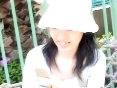 Public japanese chick downblouse nip slip
