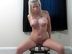 Sex machine fucks a blond babe