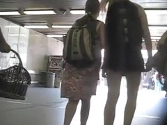 Upskirt escalator