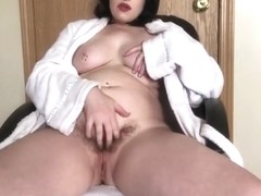 Hairy BBW mom wants you to impregnate her