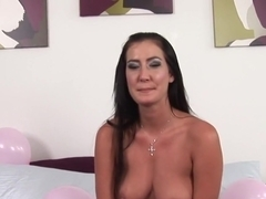 Exotic pornstar Nadia Night in best brunette, cumshots sex video