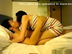 Korean guy with a supersmall sized cock makes a sextape with his gf