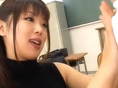 Bunko Kanazawa Naughty Asian teacher is into crazy sex