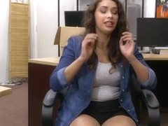Brunette Kitty Catherine fucks Shawns hard dick for money