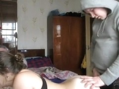 Chubby Babe Punished With Deep-Throating