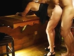 My wife fucked her lover-cuckold gets facesitting